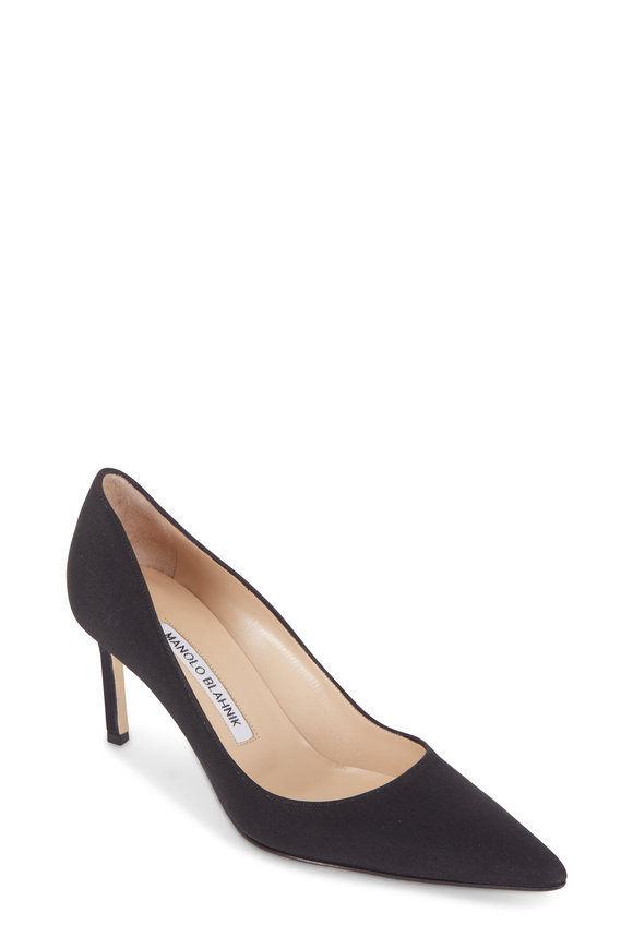 Manolo Blahnik Lisa Crepe De Chine Pump, 70mm