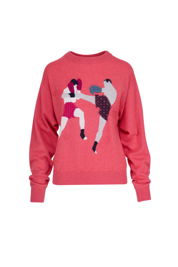 Barrie Boxer Crewneck Pullover Sweater