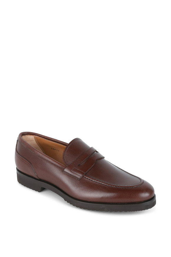 Gravati Medium Brown Leather Penny Loafer