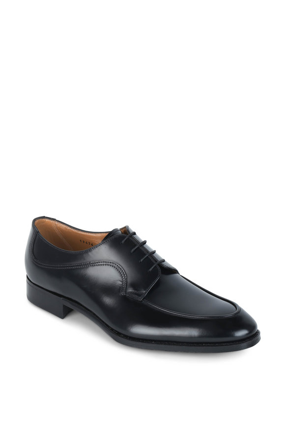 Gravati Black Leather Derby Shoe