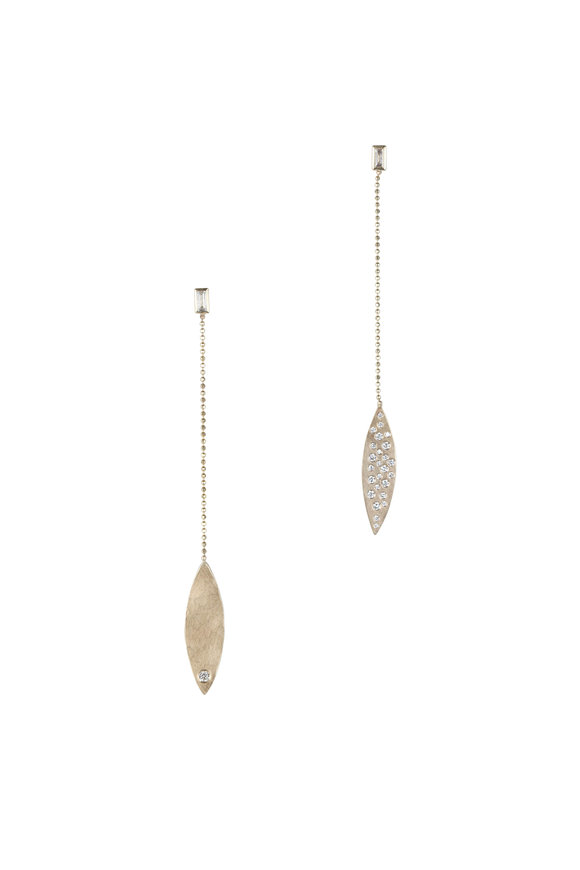 Julez Bryant Yellow Gold Obry Long Earrings