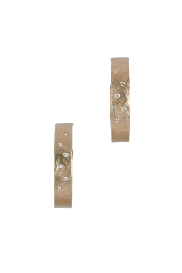 Julez Bryant Yellow Gold Opar Diamond Earrings