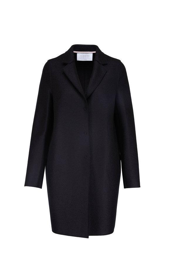Harris Wharf Coccoon Black Pressed Wool