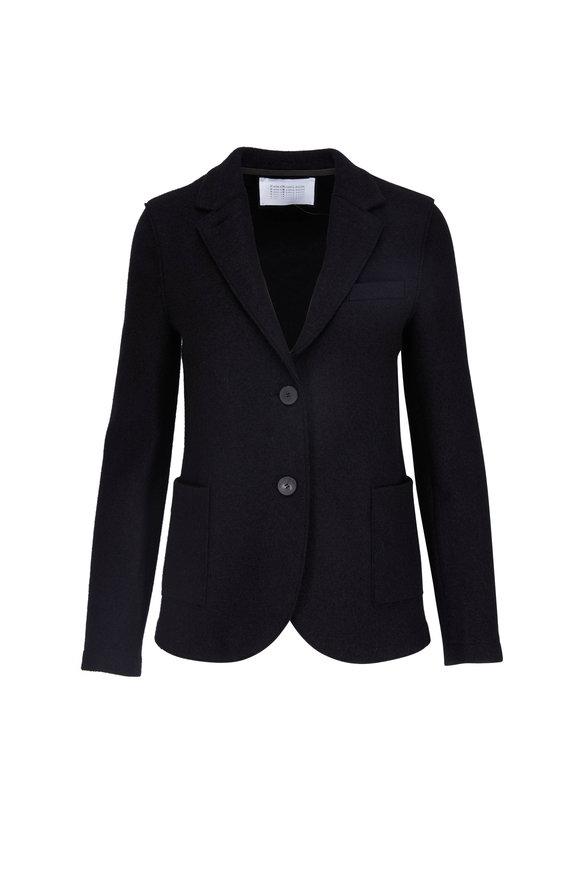 Harris Wharf Boyfriend Black Light Wool Blazer