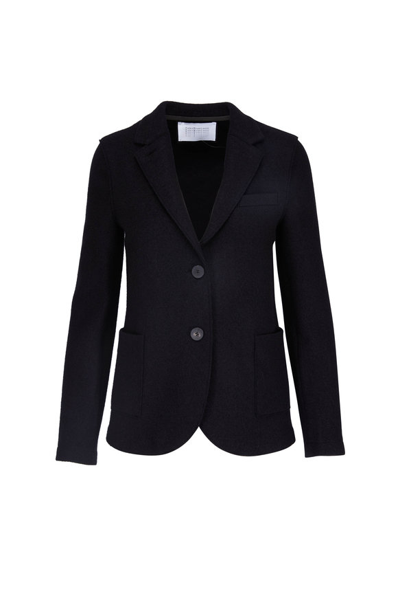 Harris Wharf Boyfriend Black Light Wool Blazer