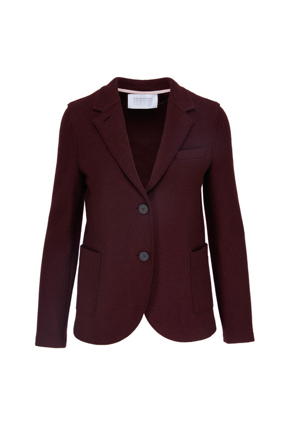 Harris Wharf Boyfriend Bordeaux Light Wool Blazer