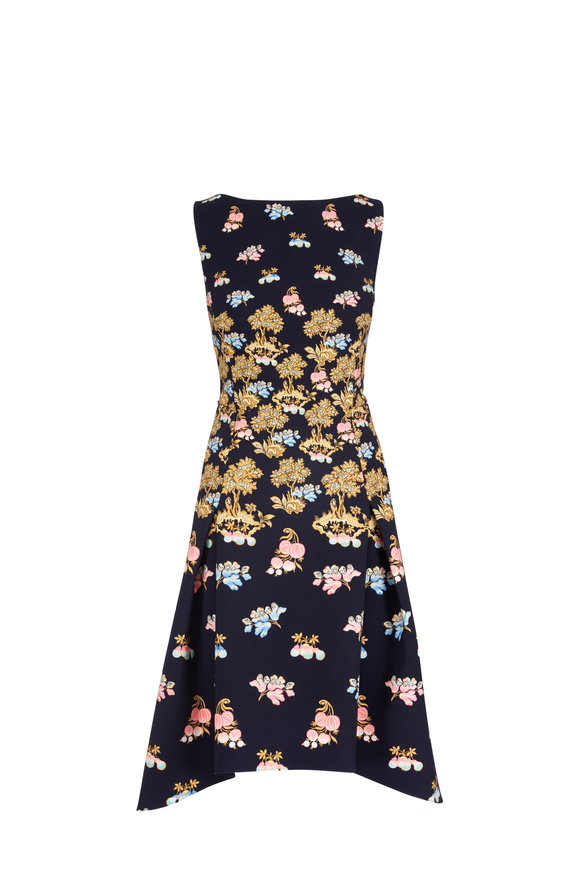 Peter Pilotto Fig Tree Print Fit & Flare Dress