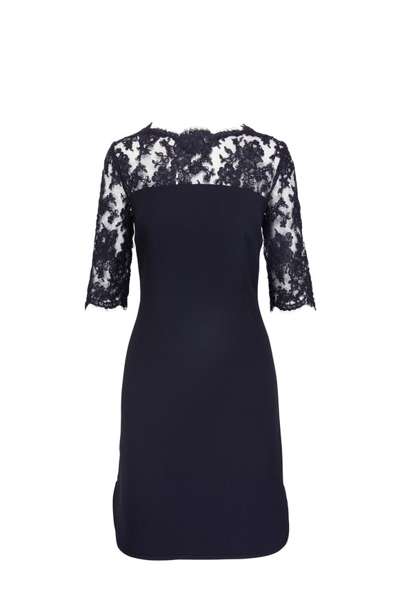 Olivine Gabbro Midnight Lace Shift Dress