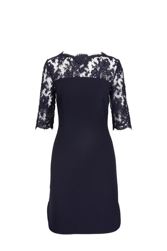 Olivine Gabbro Midnight Lace Shift Dress