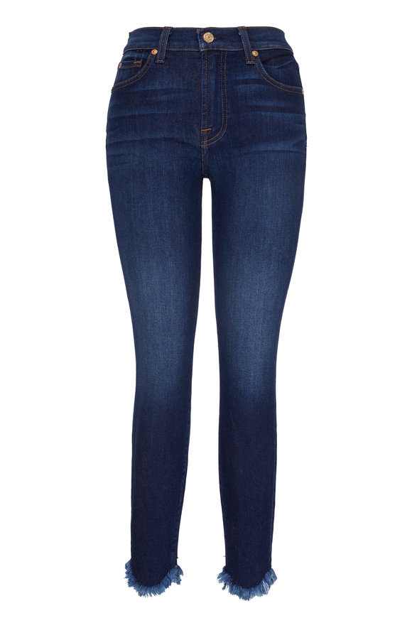 7 For All Mankind Ankle Skinny Scalloped Hem Jean