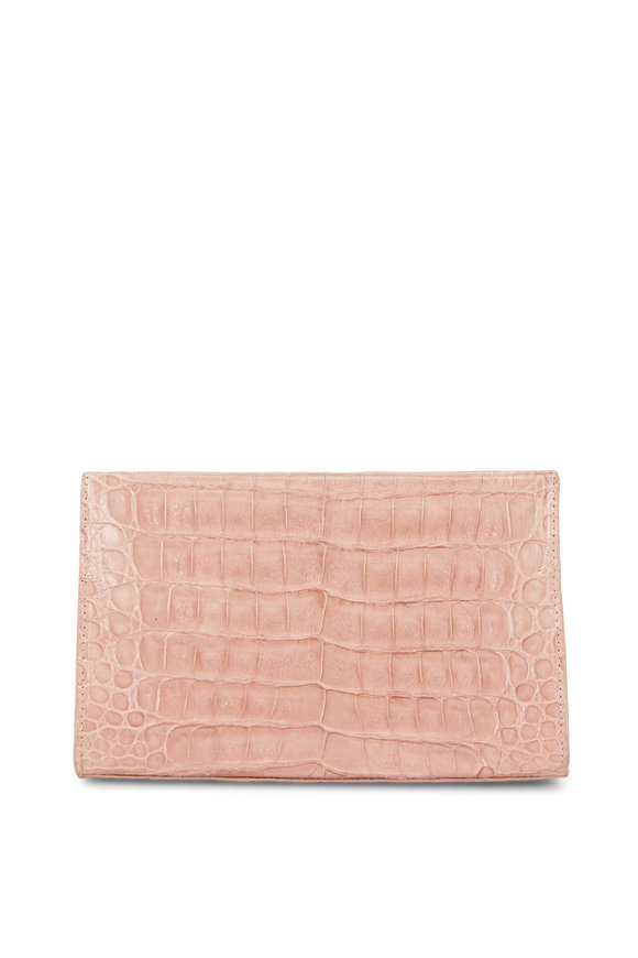 Nancy Gonzalez Nude Crocodile Pyramid Clutch