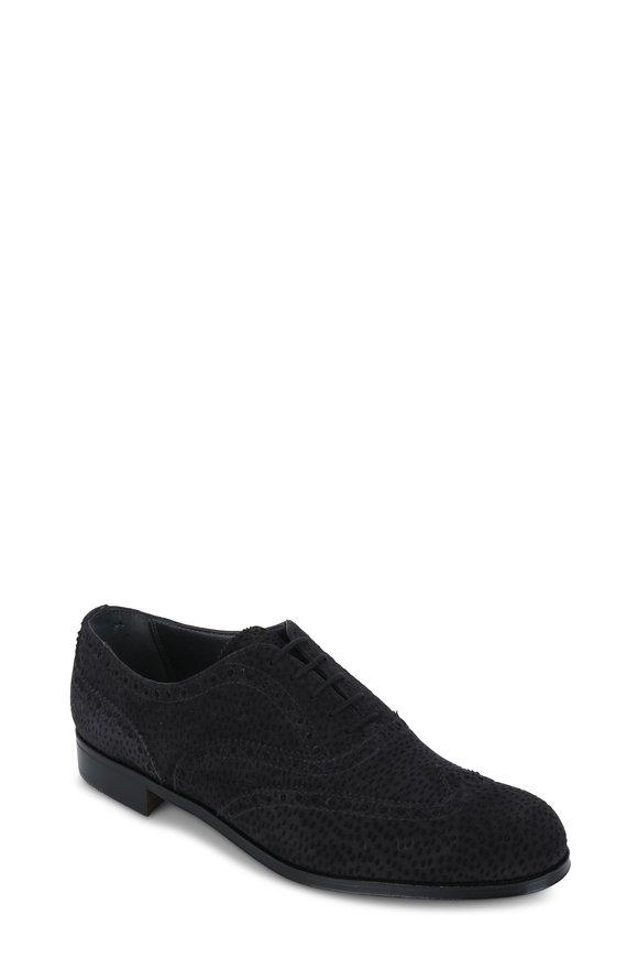 Gravati Carcoal Gray Suede Wingtip Oxford Shoe