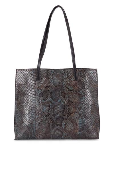 B May Bags - Dapple Gray Python Medium Shopper Tote