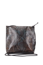 B May Bags - Gray Python Pouch Crossbody