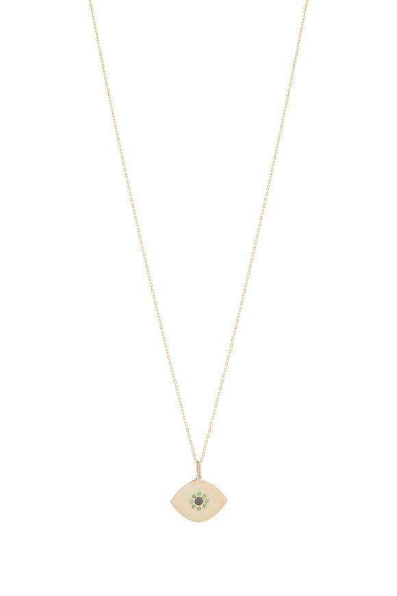 Genevieve Lau 14K Yellow Gold Evil Eye Necklace