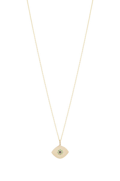 Genevieve Lau - 14K Yellow Gold Evil Eye Necklace