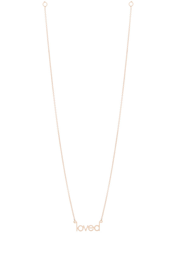 Genevieve Lau 14K Rose Gold Mini Loved Necklace