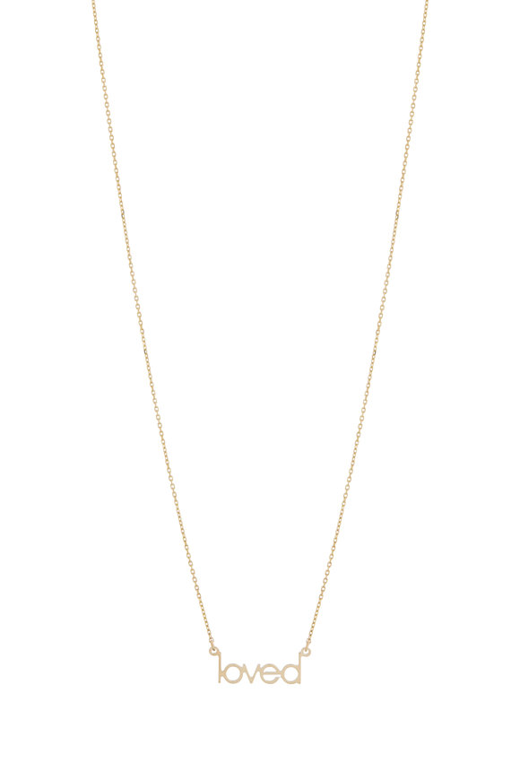 Genevieve Lau 14K Yellow Gold Mini Loved Necklace