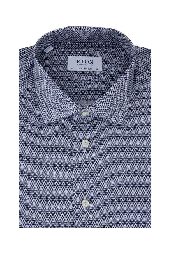 Eton Light Blue Panda Bear Contemporary Fit Dress Shirt