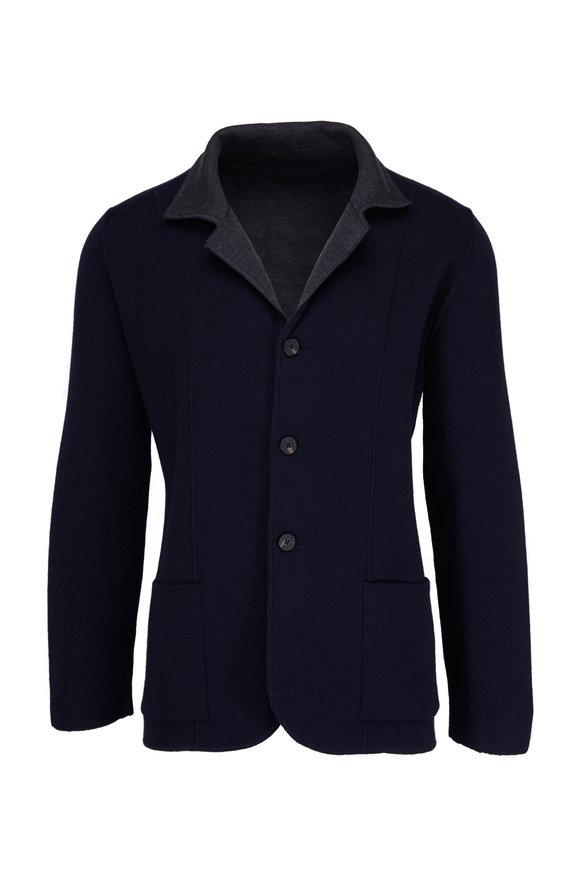 Maurizio Baldassari Navy & Grey Reversible Jacket