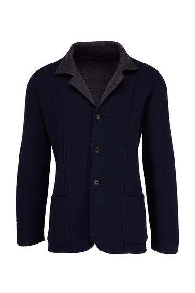 Maurizio Baldassari - Navy & Grey Reversible Jacket