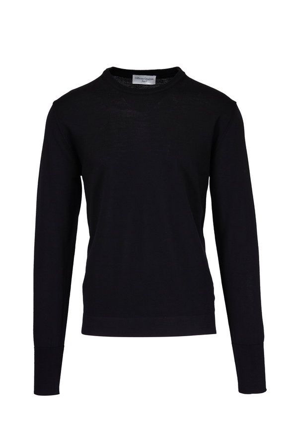 Officine Generale Nina Merino Wool Black Sweater