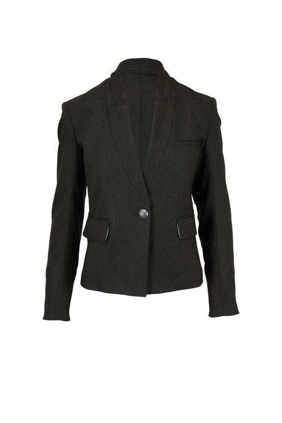 Veronica Beard Celina Green Herringbone Dickey Jacket