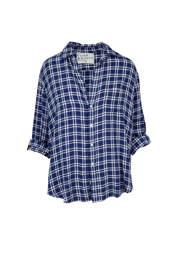 Frank & Eileen Eileen Blue & White Plaid Button Down