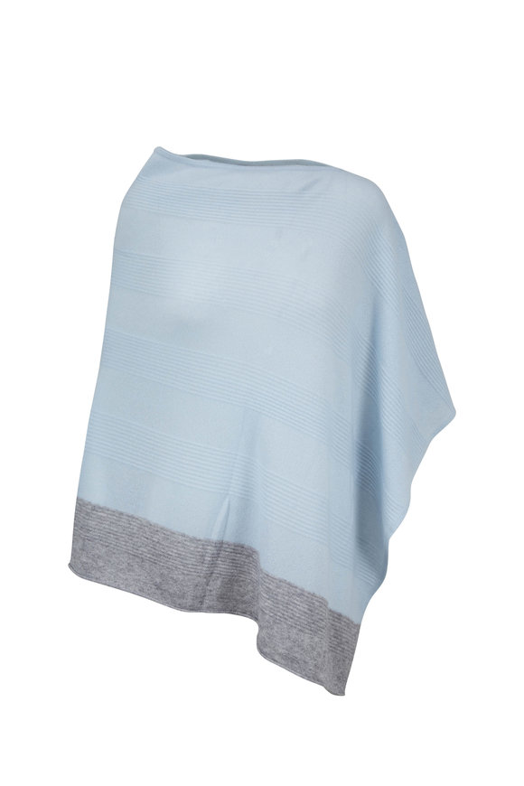 Kinross Arctic & Sterling Cashmere Poncho