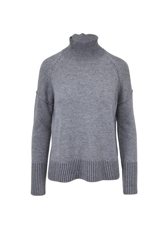 Kinross Sterling & Pewter Cashmere Mockneck Sweater