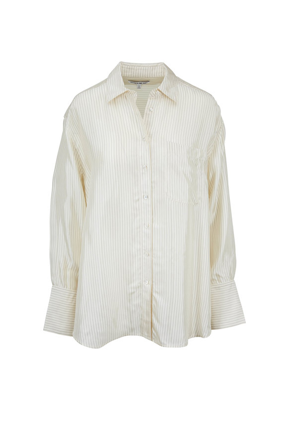 Elizabeth & James Turner Alabaster & Black Striped Shirt