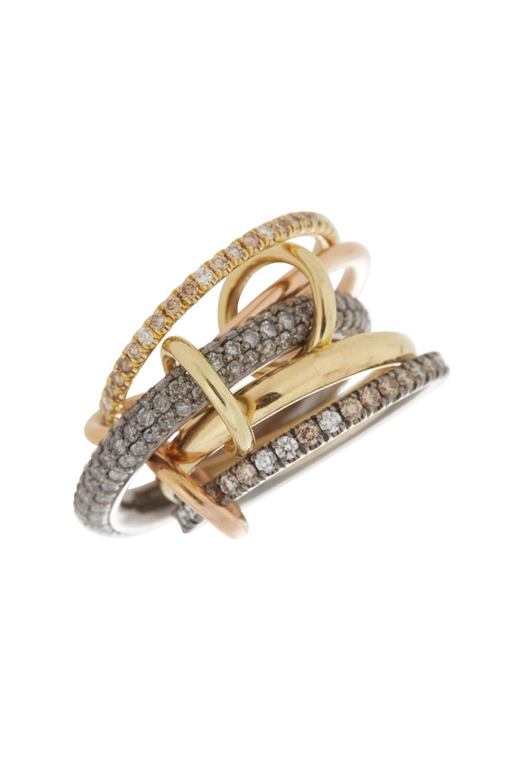 Spinelli Kilcollin 18K Yellow & Rose Gold Leo Linked Rings