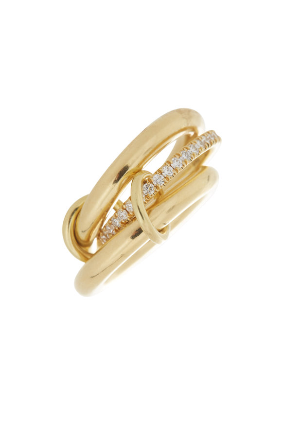 Spinelli Kilcollin 18K Yellow Gold Libra Link Ring