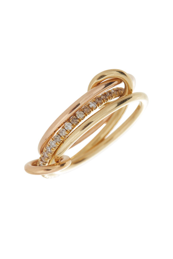 Spinelli Kilcollin 18K Yellow & Rose Gold Raneth Pavè Ring