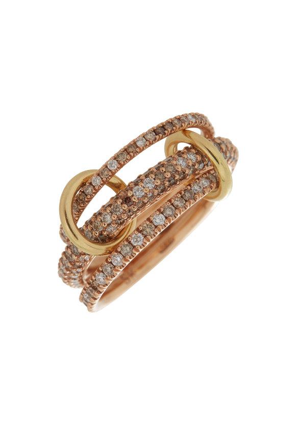 Spinelli Kilcollin 18K Rose Gold Nova Three Link Ring