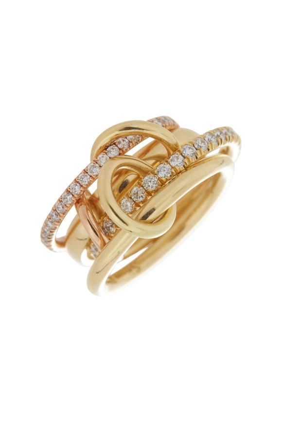 Spinelli Kilcollin 18K Yellow Gold Polaris Custom Link Rings