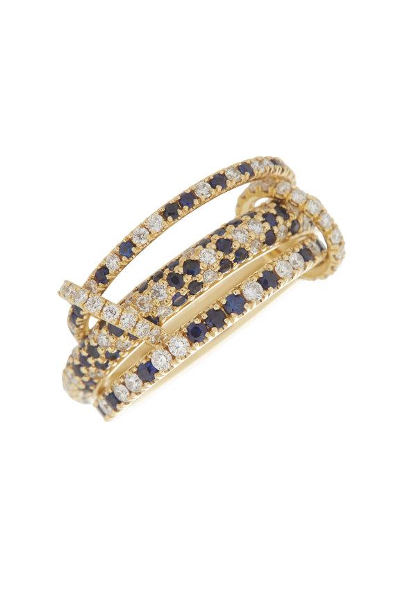 Spinelli Kilcollin 18K Yellow Gold Nova Pavè Sapphire Ring