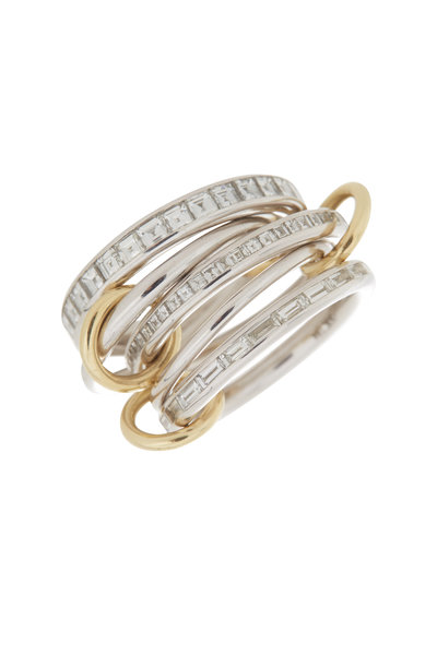 Spinelli Kilcollin - 18K White Gold Five Linked Diamond Ring