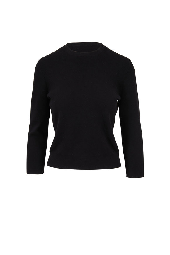 Michael Kors Collection Black Crewneck Sweater