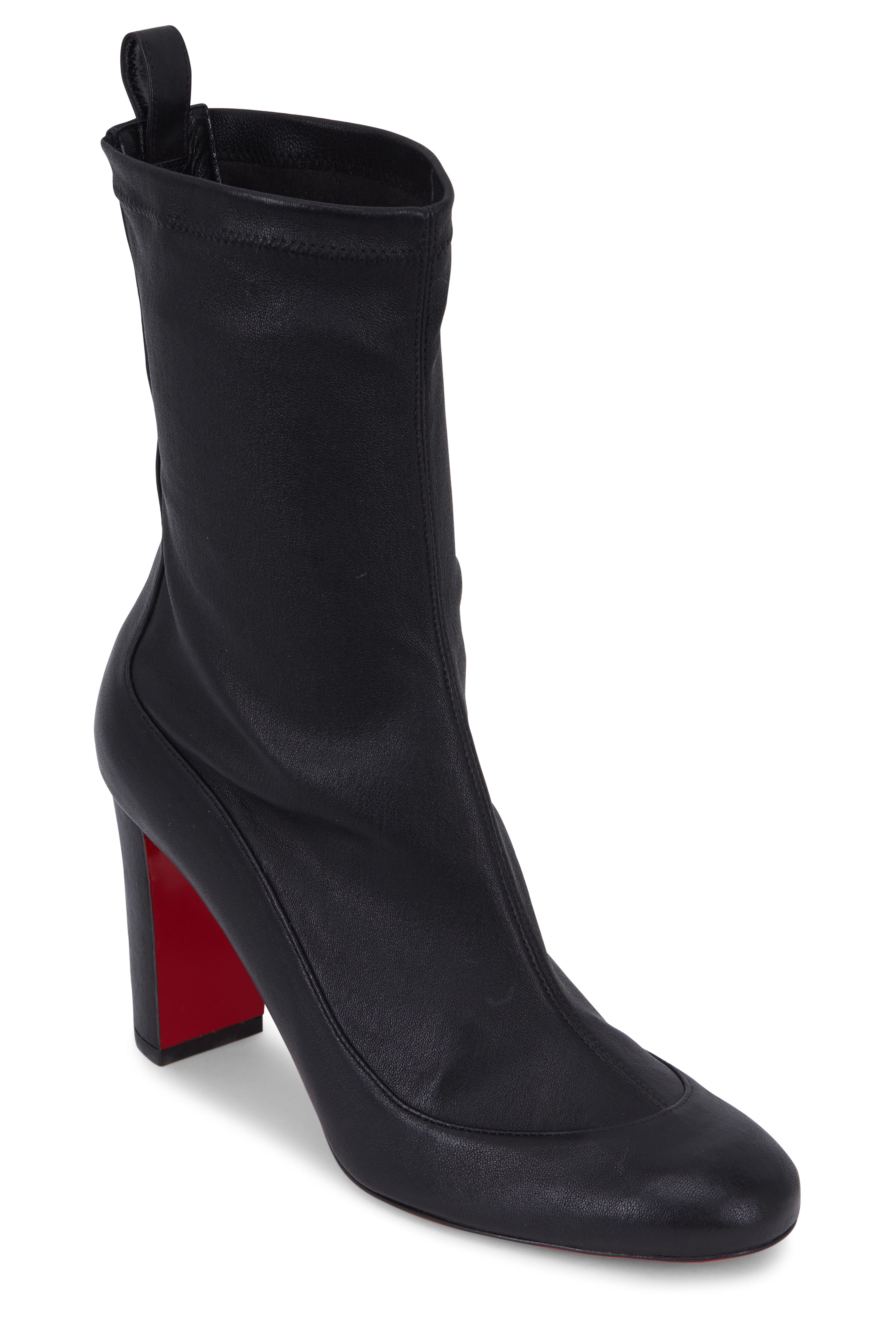 b4af5b905f2d Christian Louboutin - Gena Nappa Stretch Leather Ankle Boot