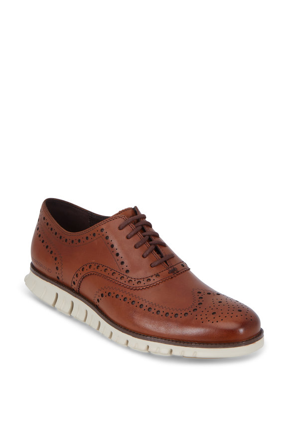 Cole Haan Zerogrand British Tan Leather Wingtip Oxford