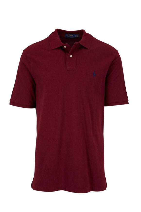 Polo Ralph Lauren Wine Cotton Polo