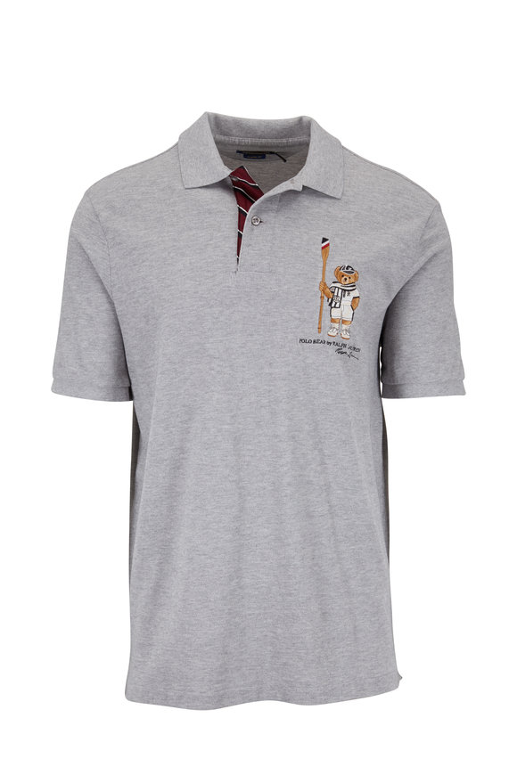 Polo Ralph Lauren Light Gray Heather Embroidered Polo