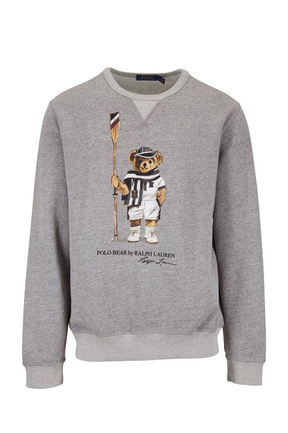 Polo Ralph Lauren Gray Heather Polo Bear Sweatshirt