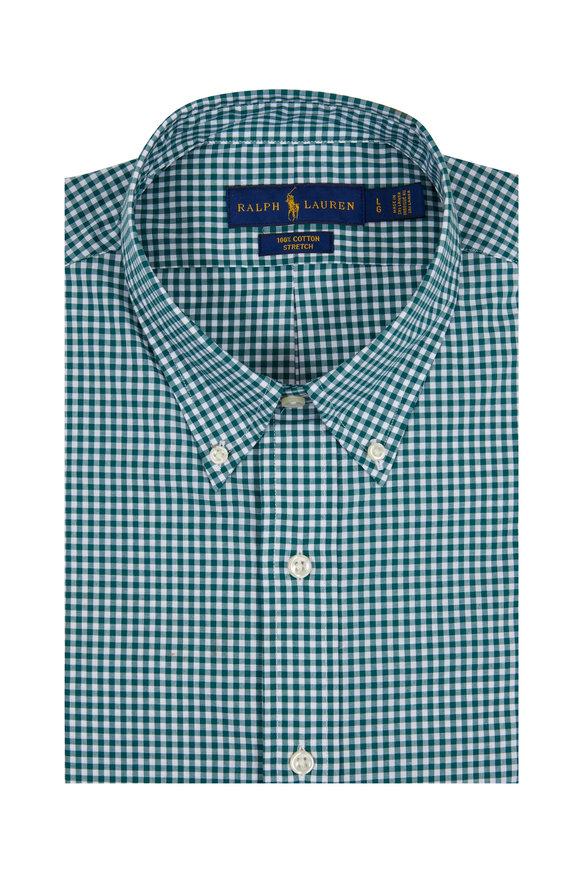 Polo Ralph Lauren Hunter Green Gingham Sport Shirt