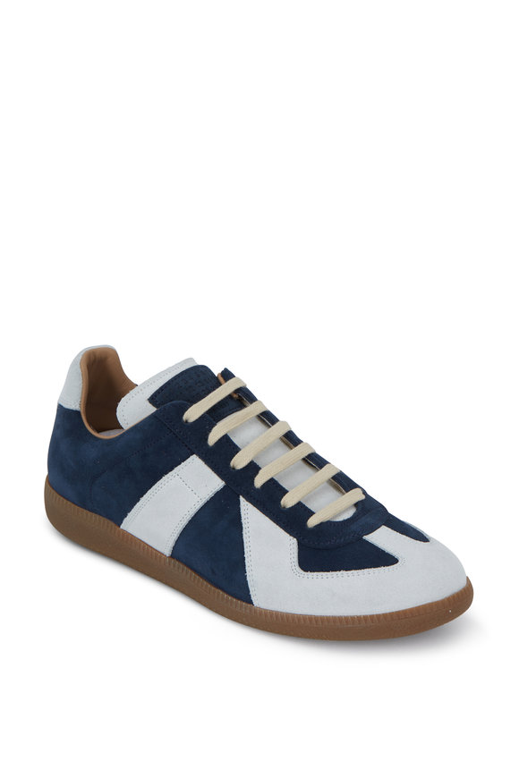 Maison Margiela Replica Navy Blue & White Sneaker
