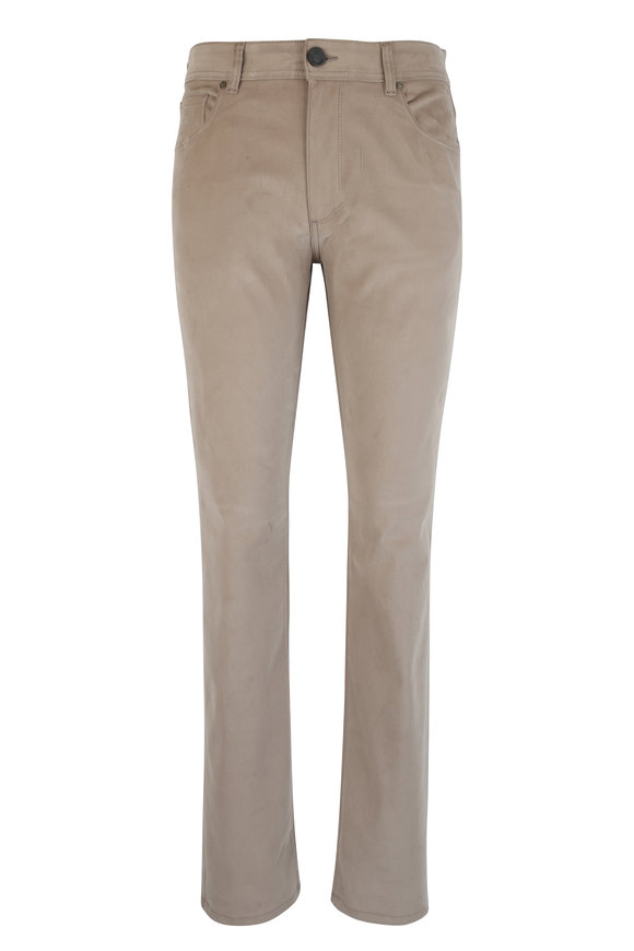 Luciano Barbera Khaki Stretch Cotton Five Pocket Pant