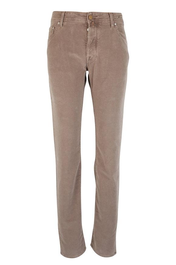 Jacob Cohen  Brown Brushed Cotton Five Pocket Pant