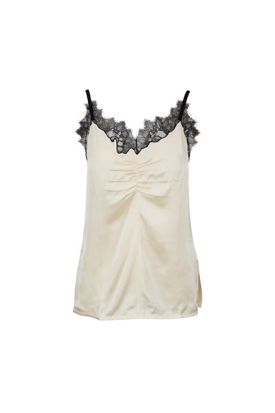 Helmut Lang - Blanched Almond Lace Trim Cami