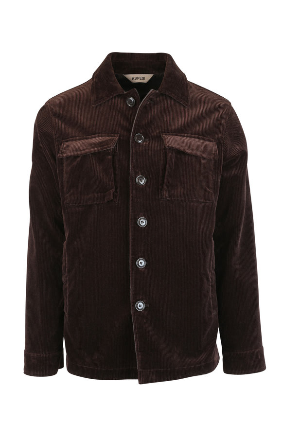 Aspesi Brown Corduroy Overshirt